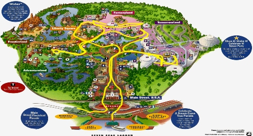 Magic Kingdom Traffic Map
