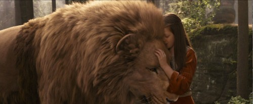 Lucy and Aslan from Prince Caspian