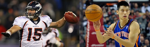 Tim Tebow and Jeremy Lin image