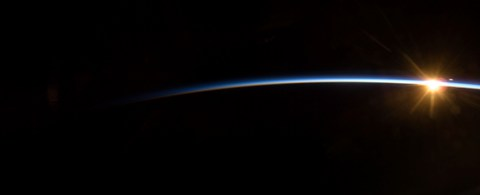 Picture of a Sunrise in Space