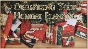 Holiday Planning - Organize