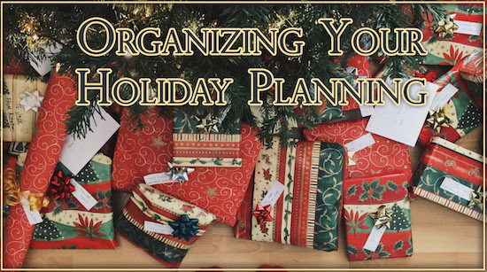 Holiday Planning - Organize