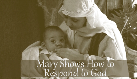 mary shows how to respond to god