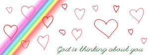 God is thinking of you