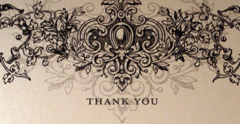 Thank You Card by Lisa Samartino Atelier