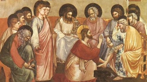 Christ Washing the Feet of the Apostles by Meister des Hausbuches