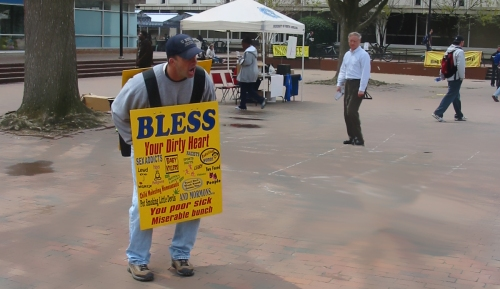 Pit Preacher on Carolina campus
