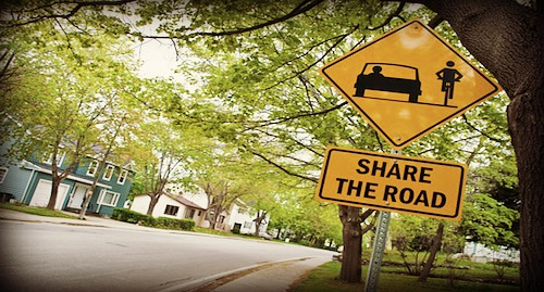 share the road bike sign