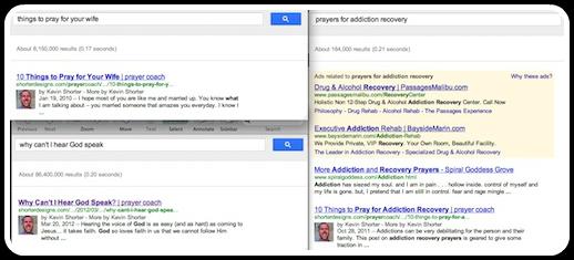 Prayer Google Results
