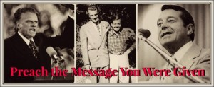 Billy Graham and Bill Bright Preaching