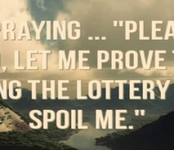 Lottery Prayer image