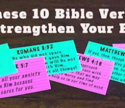Bible Verses Strengthen Prayers