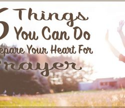 Prepare Your Heart Prayer
