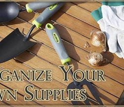 Organize Your Lawn Supplies