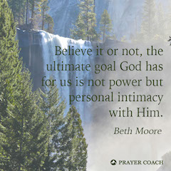 Intimacy Goal - Beth Moore