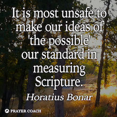 the possible - Horatius Bonar