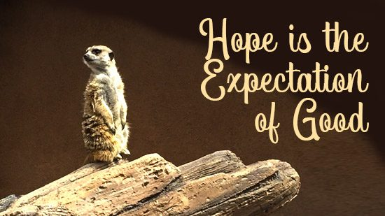 Hope is the Expectation of God
