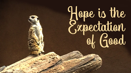 Hope is the Expectation of Good