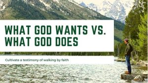 What God Wants - What God Does